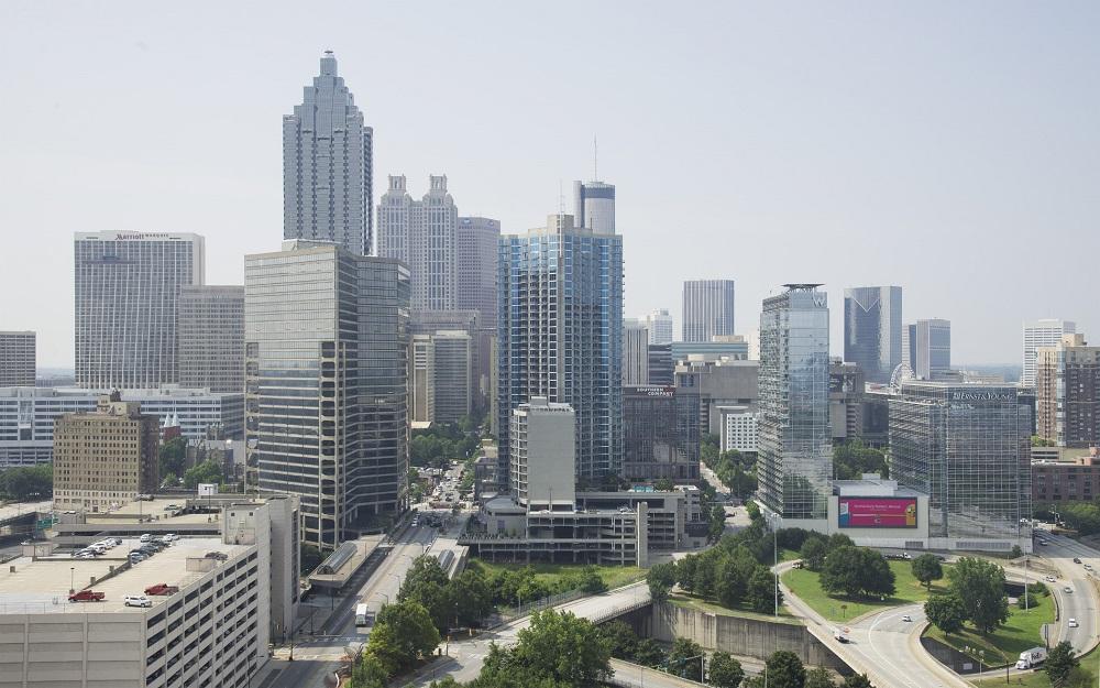Atlanta, Georgia city skyline view.