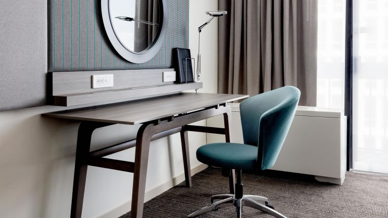 Workstation desk in a guest room at the Crowne Plaza Atlanta Midtown.