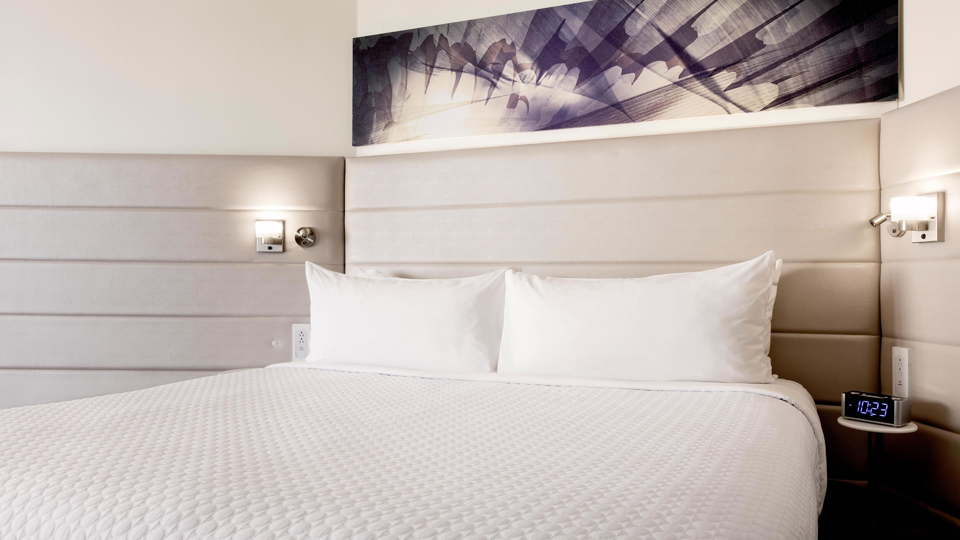 One king bed at Crowne Plaza Atlanta Midtown.