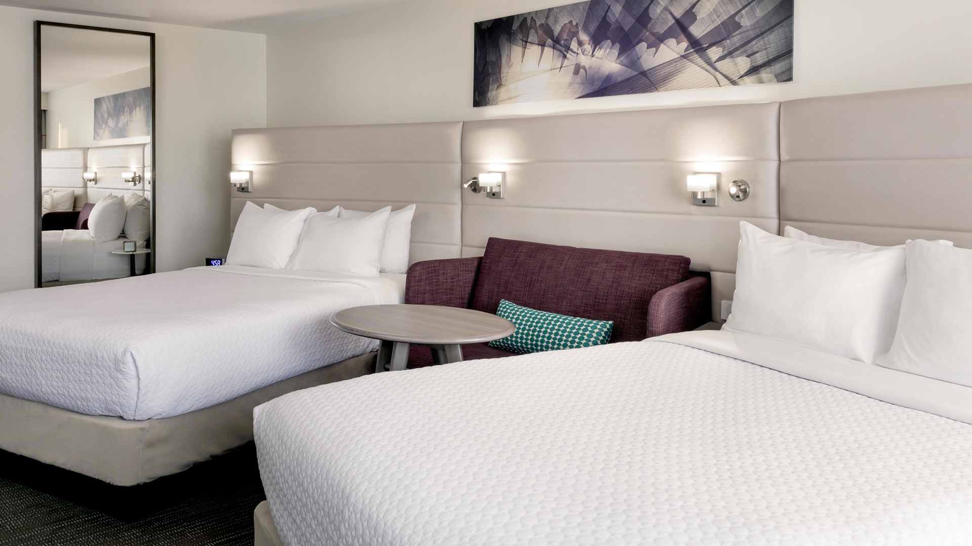 Two queen beds at Crowne Plaza Atlanta Midtown.