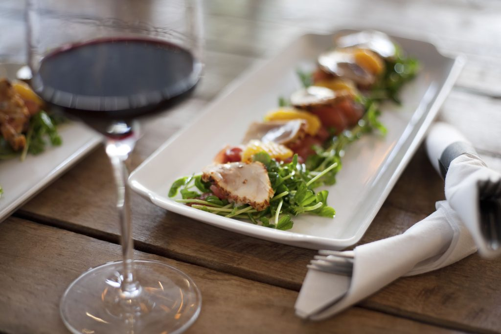 Dinner and wine at Next restaurant in Crowne Plaza Atlanta Midtown.